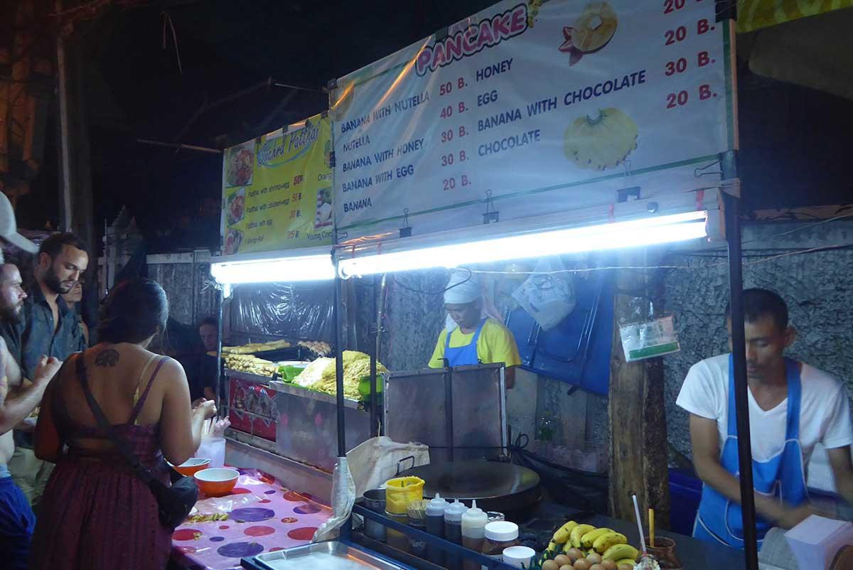 Banana Pancakes at Khaosan Road in Bangkok