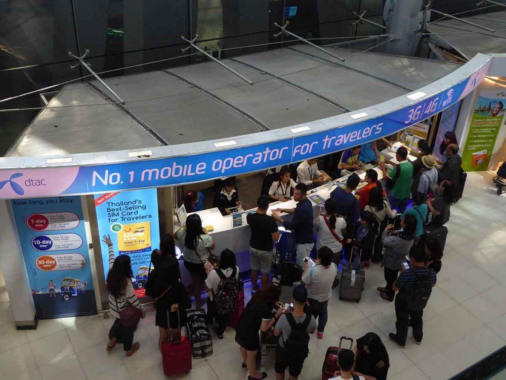 Free Sim Card Counter 1024x768 - Suvarnabhumi Airport
