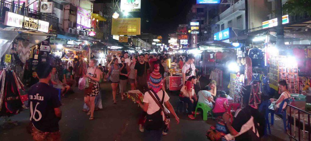 Khaosan Road Street Market in Bangkok