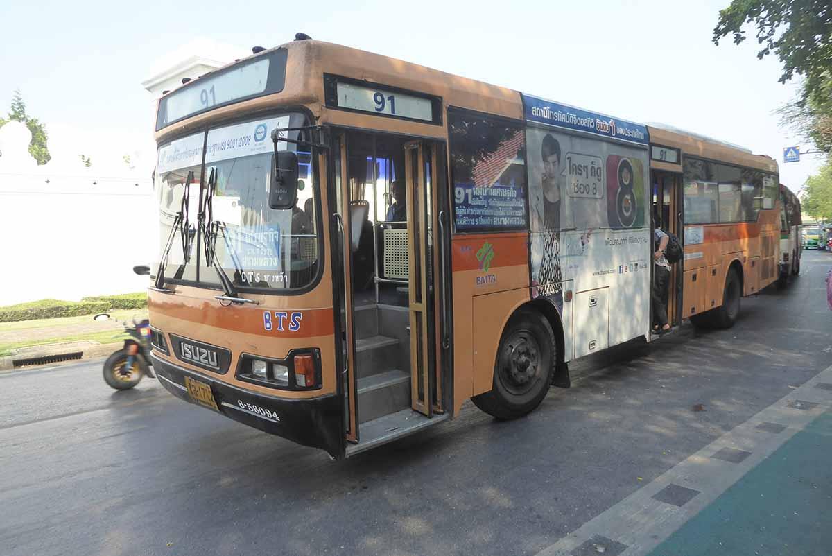 City Buses in Bangkok
