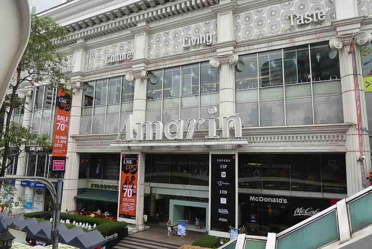 Shopping Malls A-Z in Bangkok Amarin Plaza
