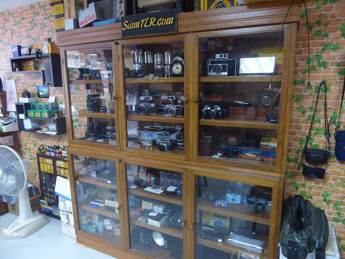 Vintage Camera Shop in Bangkok Siam TLR