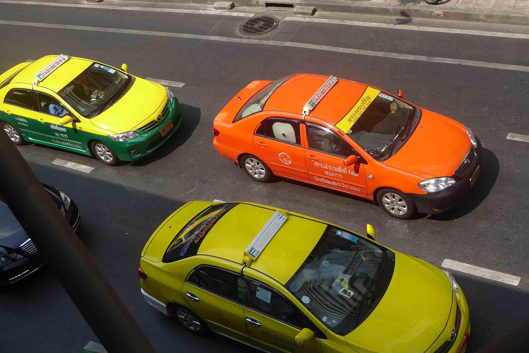 Taking a Taxi in Bangkok.