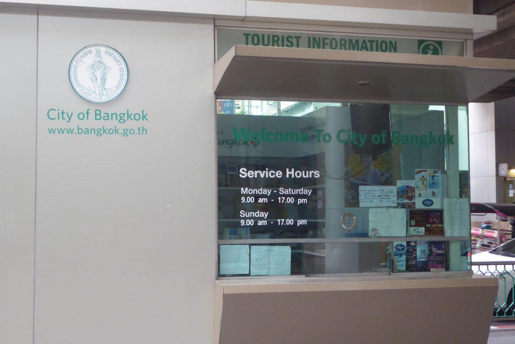 Official Tourist Information booth in Bangkok