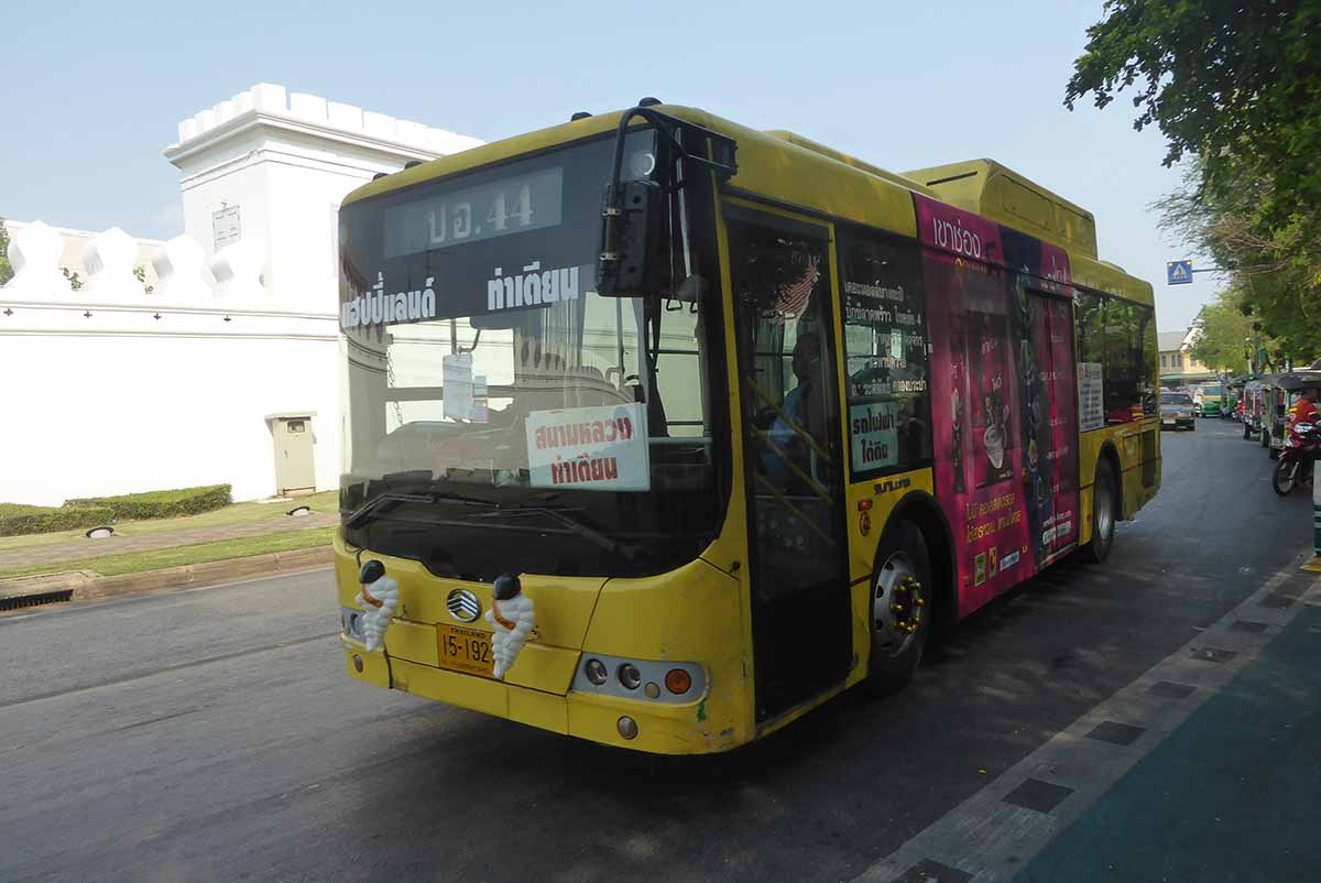 Air-conditioned city bus in Bangkok