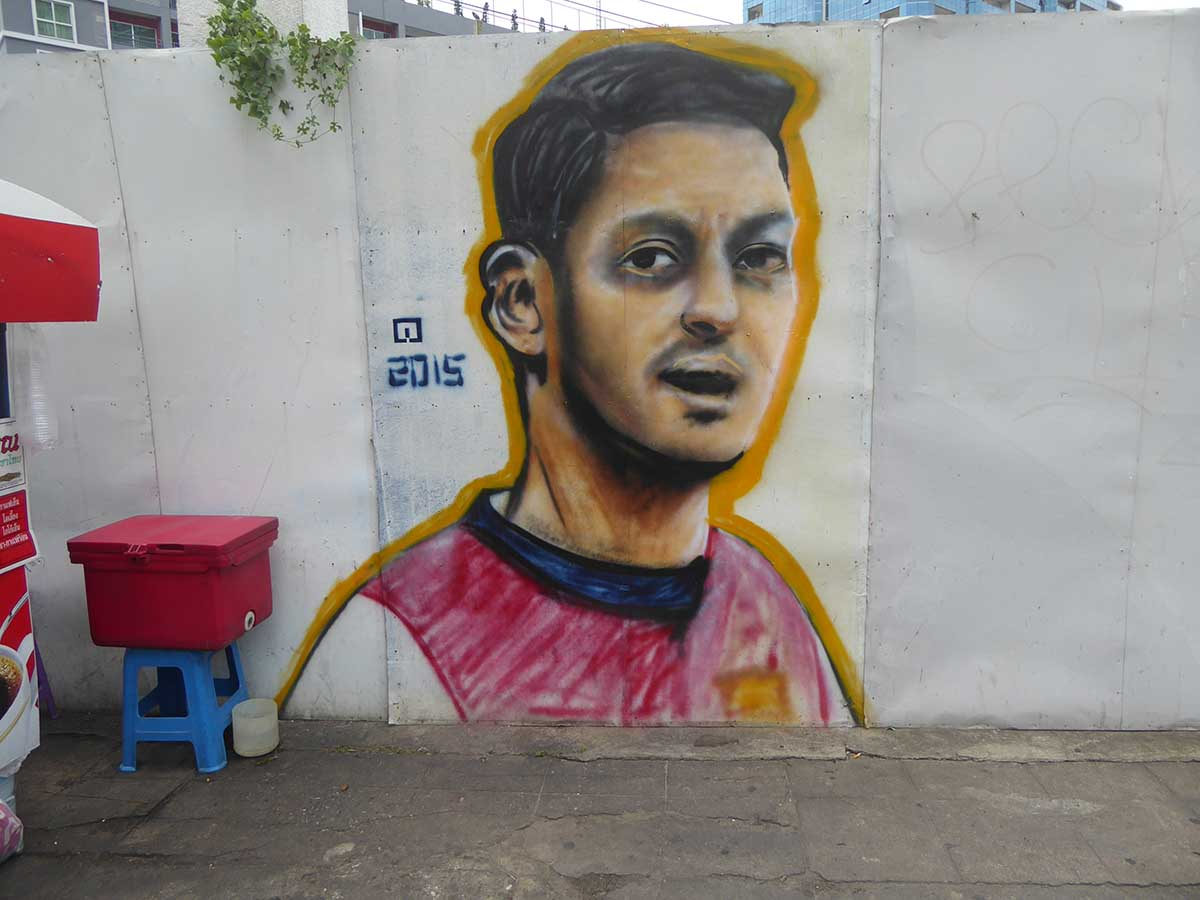 Mesut Ozil Football in Bangkok
