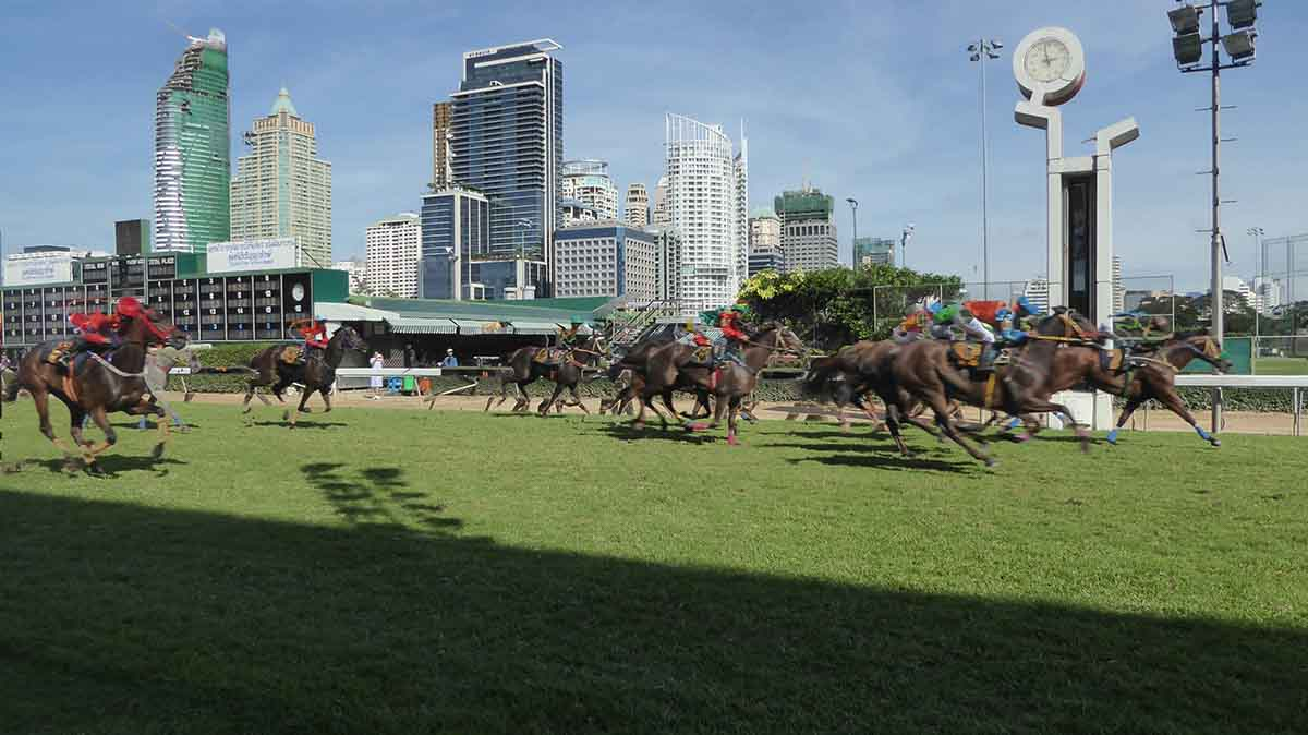 horse racing in Bangkok, Thailand