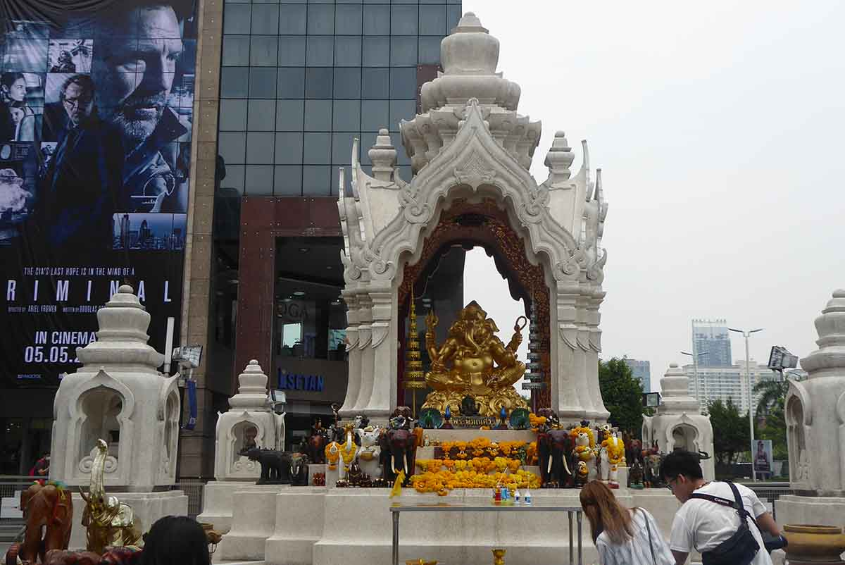 The Ganesha & Trimurti Shrines Ratchaprasong Bangkok