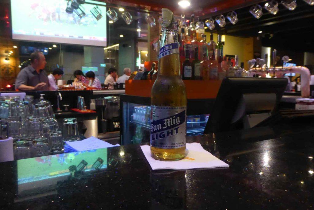 San Miguel Light at Hooters Bangkok