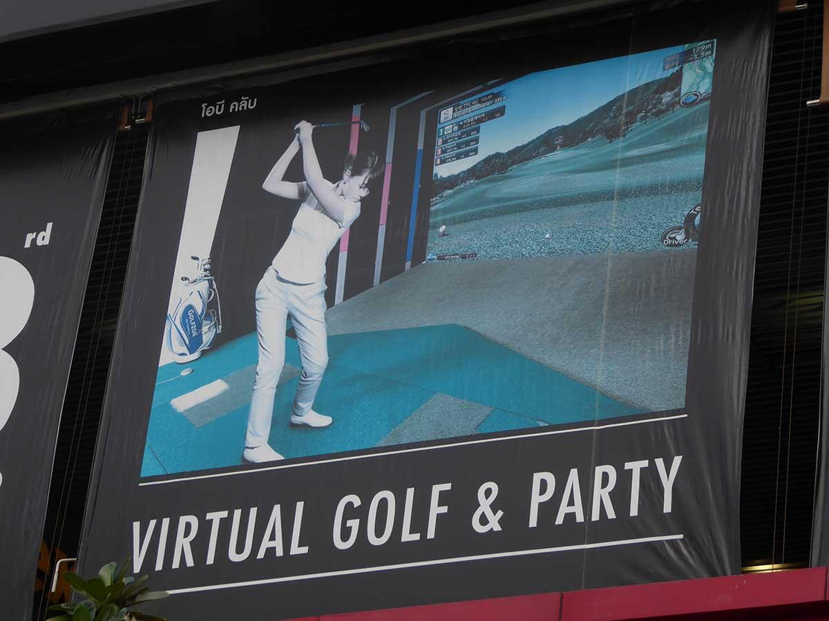 Virtual golf in Bangkok