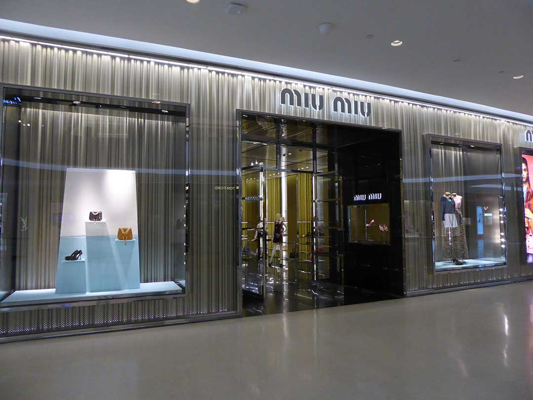 f7eca8df8568 shopping malls in Bangkok Central Embassy. Miu Miu