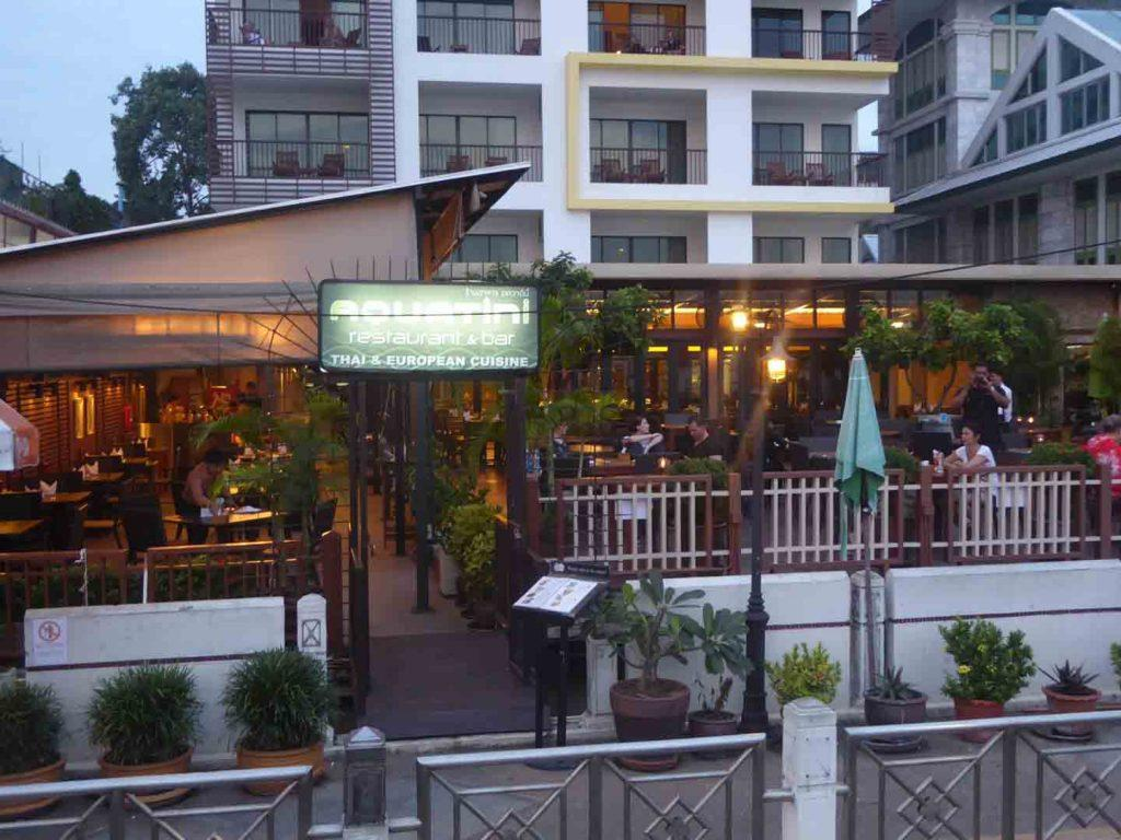 Aquitini Riverside bar and restaurant in Bangkok