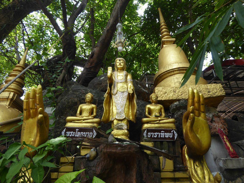 Temples in Bangkok, Thailand.