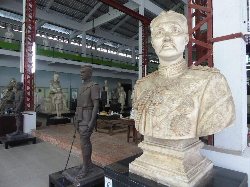 Hall of Sculpture Museum in Bangkok. Art in Bangkok