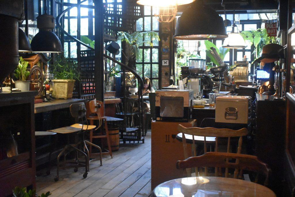 Pompano Cafe at The Camp Vintage Flea Market in Bangkok, Thailand