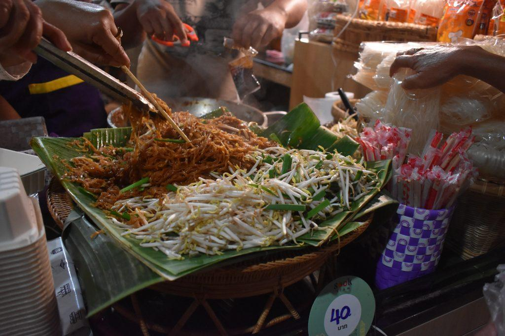 Street food at Sook Siam Icon Siam in Bangkok Thailand