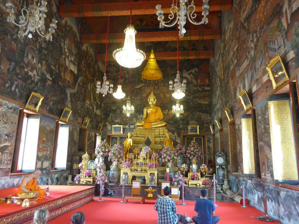 The Ordination Hall at Wat Arun Temple in Bangkok, Thailand