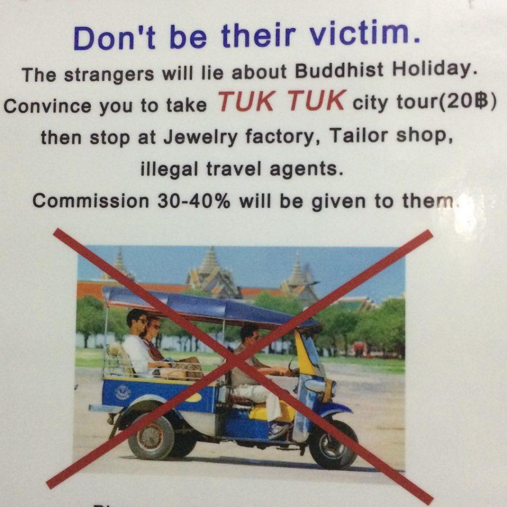 Scams in Bangkok