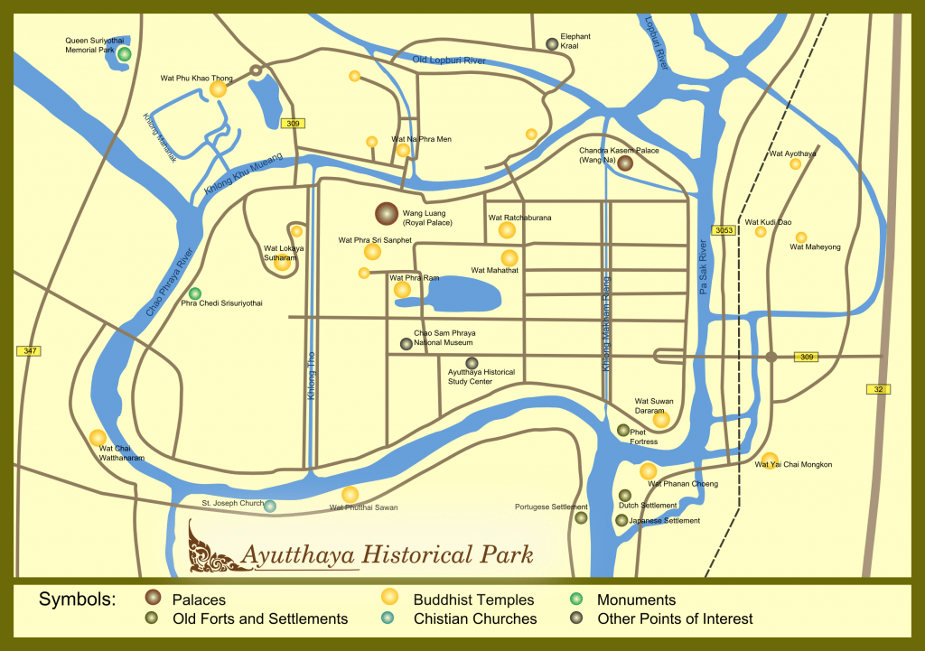 Ayuthistparkmap 1024x721 - Ayutthaya