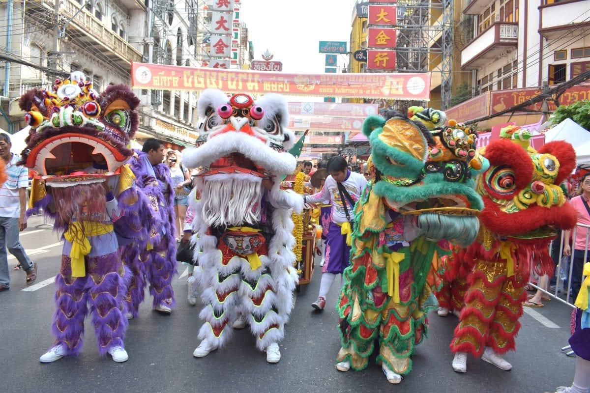 Lions at Chinese New Year 2019 in Bangkok