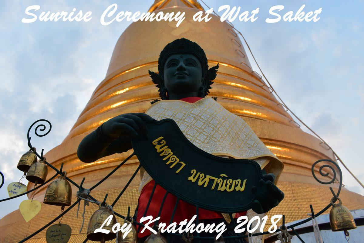 Ceremony at Wat Saket in Bangkok