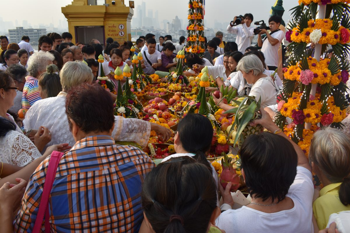 ceremony at the Golden Mountain temple in Bangkok