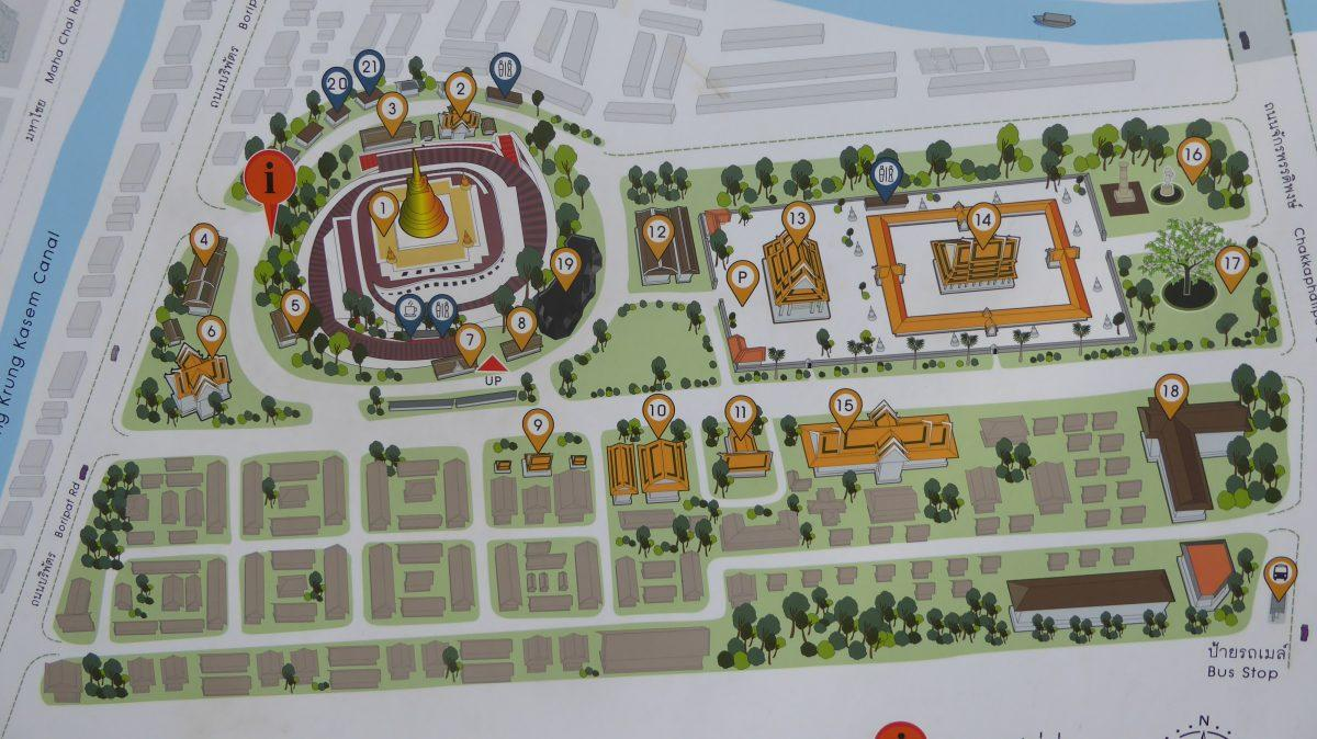 Wat Saket Map