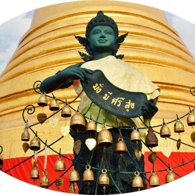 Sunrise Ceremony at Wat Saket