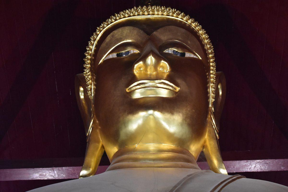 A Buddha Head in a Thai Temple