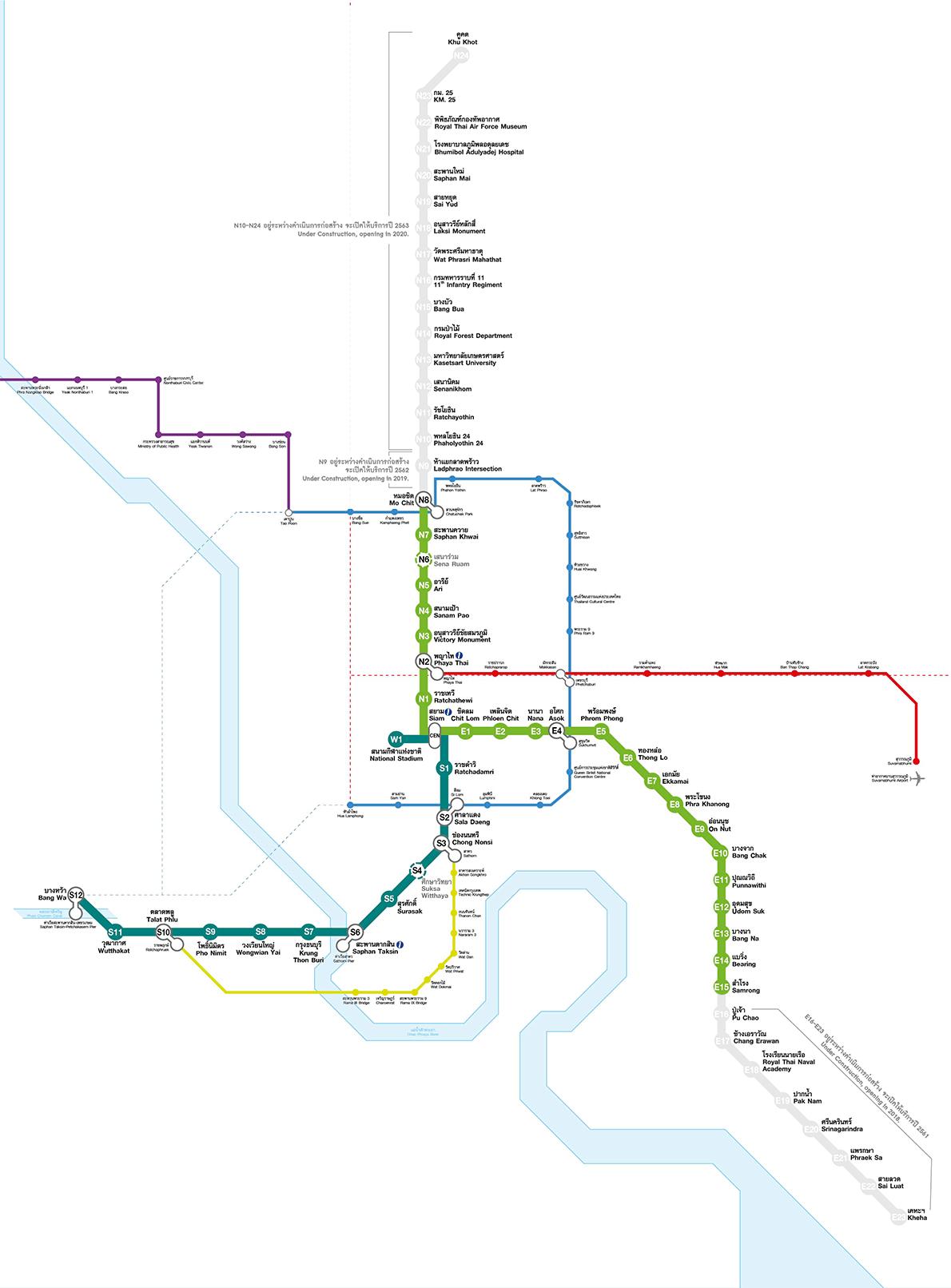 Bangkok BTS Map