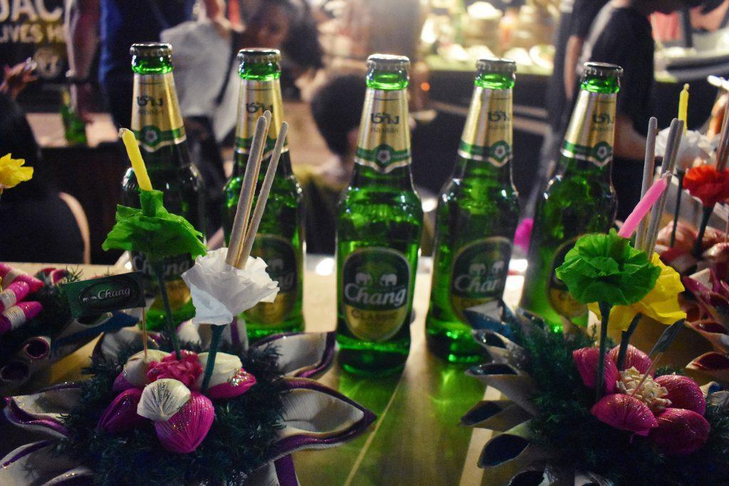 Beer Chang at Loy Krathong