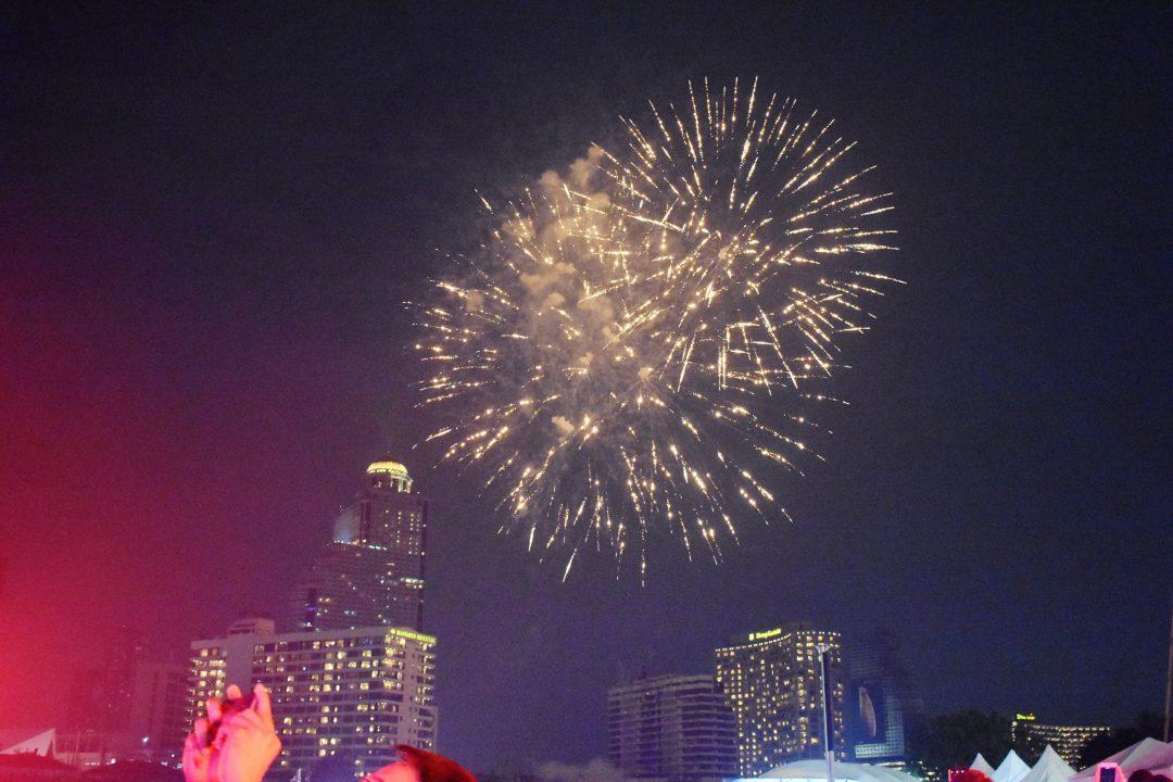 Loy Krathong Day Fireworks Display in Bangkok