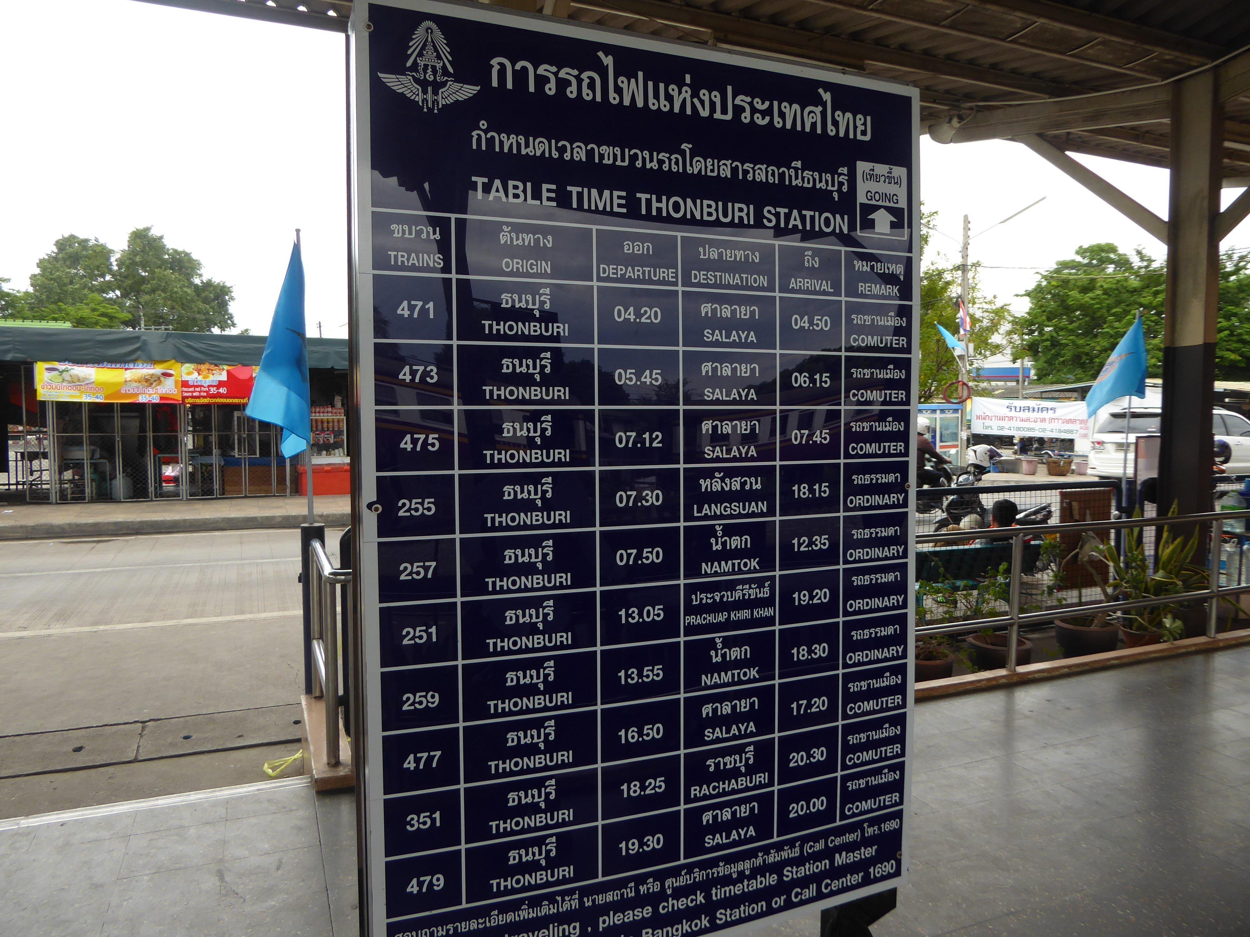 P1140869 - Train Travel in Thailand